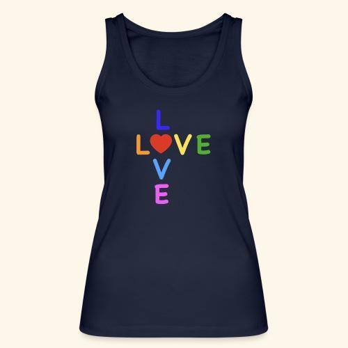Rainbow Love. Regenbogen Liebe - Frauen Bio Tank Top von Stanley & Stella