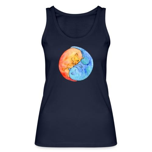 Katzenfreunde Yin Yang orange und blau - Frauen Bio Tank Top von Stanley & Stella
