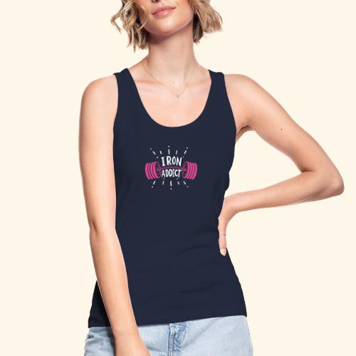 VSK Lustiges GYM Shirt Iron Addict - Frauen Bio Tank Top von Stanley & Stella