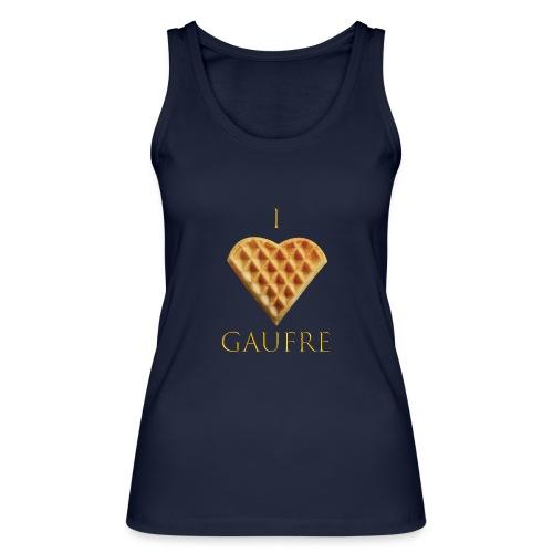 i love gaufre - Débardeur bio Femme