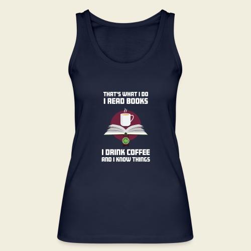 Buch und Kaffee, hell - Frauen Bio Tank Top von Stanley & Stella
