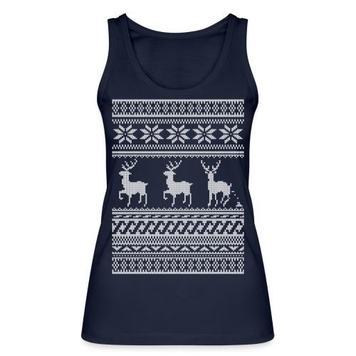 Ugly Christmas Sweater Rentier Muster (lustig) - Frauen Bio Tank Top von Stanley & Stella