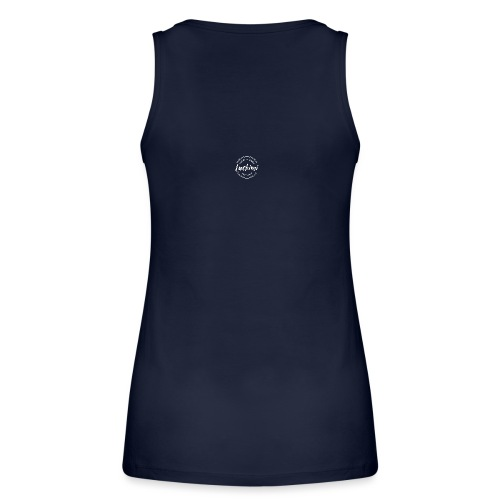 Luckimi logo white small circle on sleeve or back - Women's Organic Tank Top by Stanley & Stella
