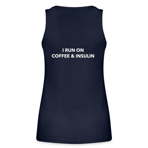 I Run on Coffee & Insulin v2 - Stanley & Stellan naisten luomutanktoppi