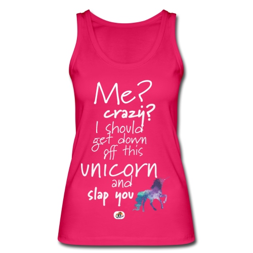 Crazy Unicorn - Light with picture - Women's Organic Tank Top by Stanley & Stella