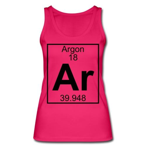Argon (Ar) (element 18) - Women's Organic Tank Top by Stanley & Stella