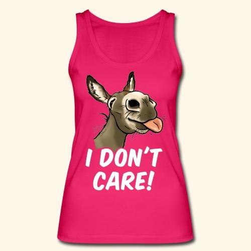 Ane I don't care! (texte blanc) - Débardeur bio Femme