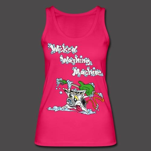 Wicked Washing Machine Cartoon and Logo - Vrouwen bio tanktop van Stanley & Stella