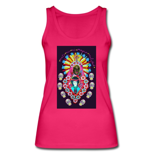 Frida Kahlo inspired Mexican art - Women's Organic Tank Top by Stanley & Stella