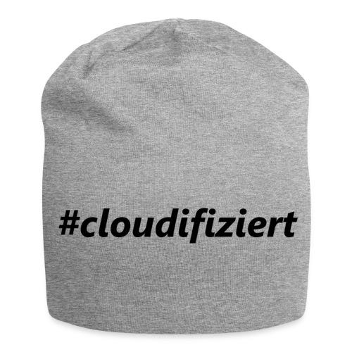 #cloudifiziert black - Jersey-Beanie
