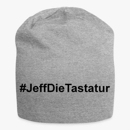 hashtag jeffdietastatur schwarz - Jersey-Beanie