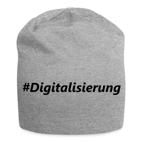 #Digitalisierung black - Jersey-Beanie