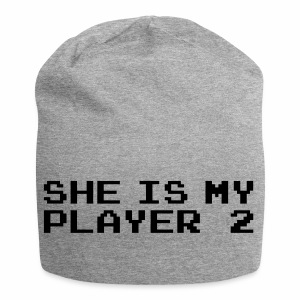 She is my player 2 - Czapka krasnal z dżerseju