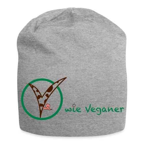 V wie Veganer - Jersey-Beanie
