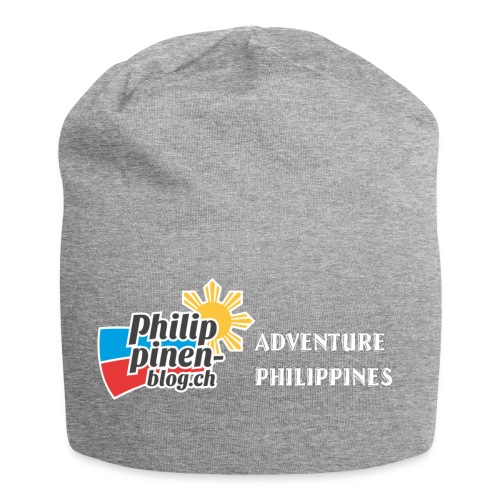Philippinen-Blog Logo english schwarz/weiss - Jersey-Beanie