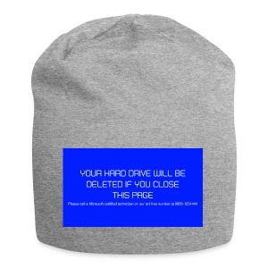 Hard Drive Deleted Notice - Jersey Beanie