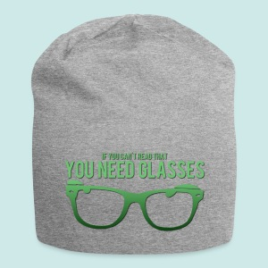 Need Glasses - Green - Bonnet en jersey