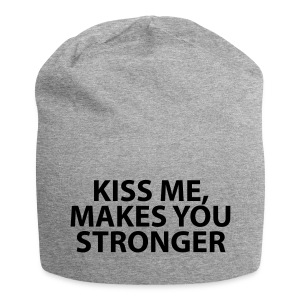 kiss me makes you stronger - Gorro holgado de tela de jersey