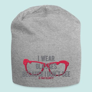 Wearing Glasses - Red - Bonnet en jersey