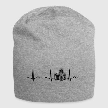 EKG HEARTBEAT aparat czarna - Czapka krasnal z dżerseju