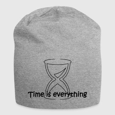 El tiempo es todo lo - Gorro holgado de tela de jersey