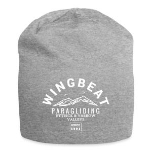 wingbeat logo - big - on back - in white - Jersey Beanie