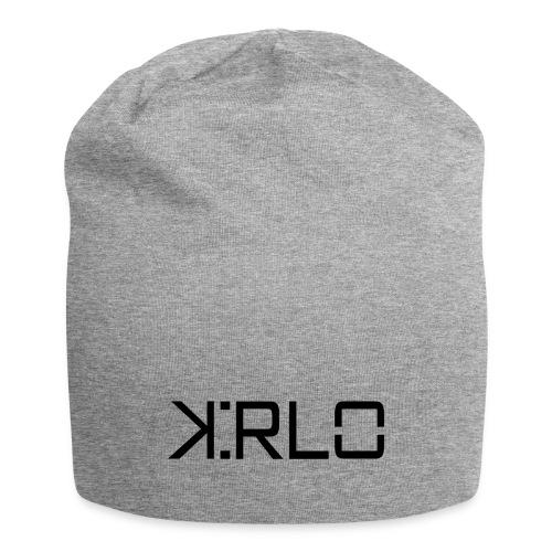 Kirlo Logotipo Negro - Gorro holgado de tela de jersey