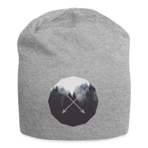 Misty Forest Blended With Crossed Arrows - Beanie in jersey