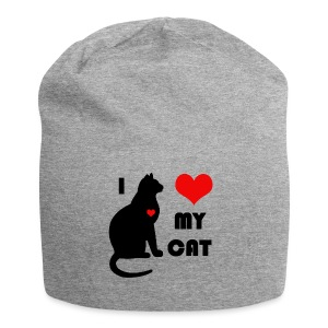 I love my cat - Bonnet en jersey