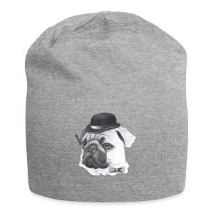 pug with bowler - Jersey-Beanie
