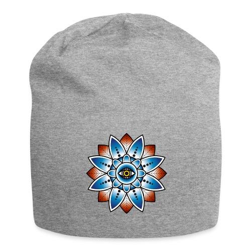 Psychedelisches Mandala mit Auge - Jersey-Beanie