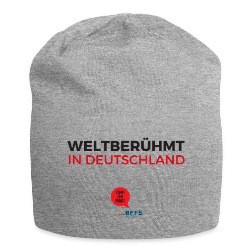 Weltberühmt in Deutschland gif - Jersey-Beanie