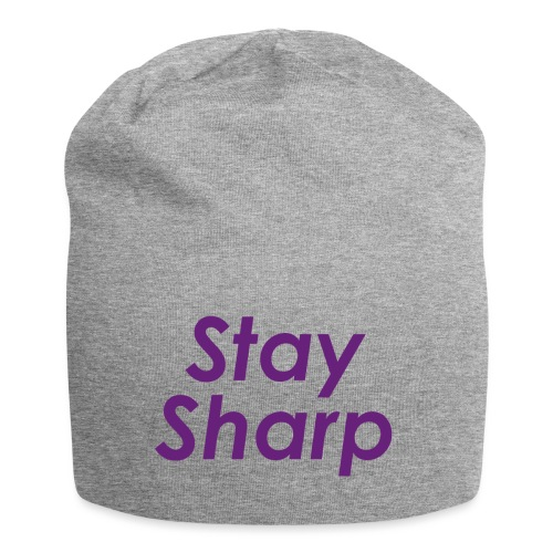Stay Sharp - Beanie in jersey