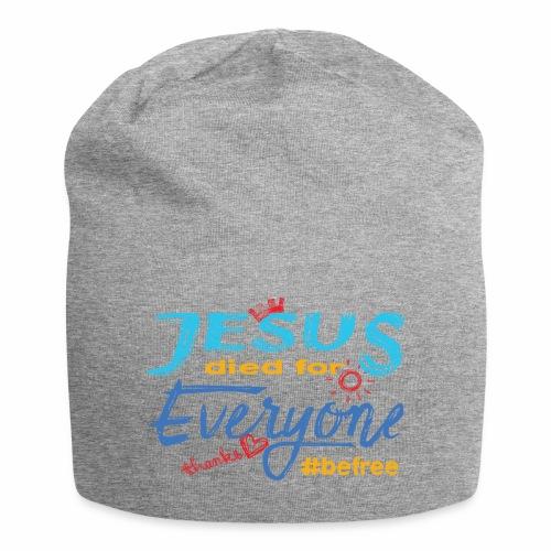 Jesus died for Everyone blau - Jersey-Beanie