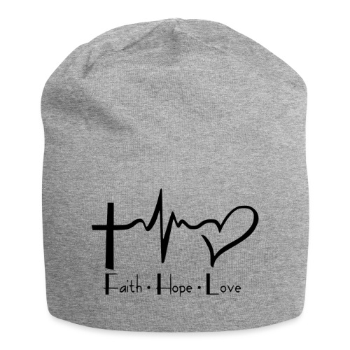 faith hope love - Bonnet en jersey