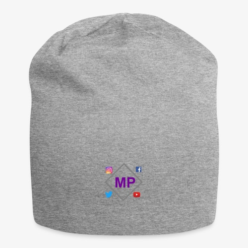MP logo with social media icons - Jersey Beanie