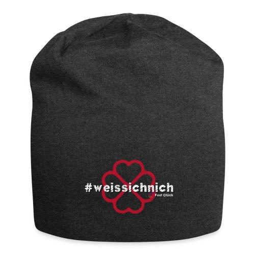 #weissichnich - Jersey-Beanie