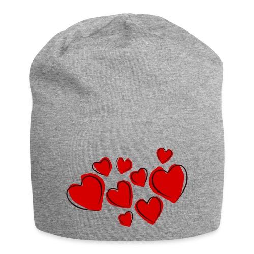 hearts herzen - Jersey-Beanie
