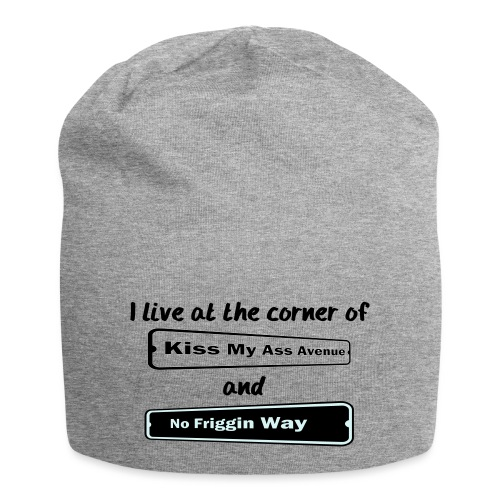 I_LIVE_AT_THE_CORNER_CUT_-2- - Jersey Beanie