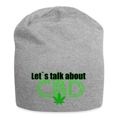 Let´s talk about CBD - Cannabis CBD Öl Merch - Jersey-Beanie