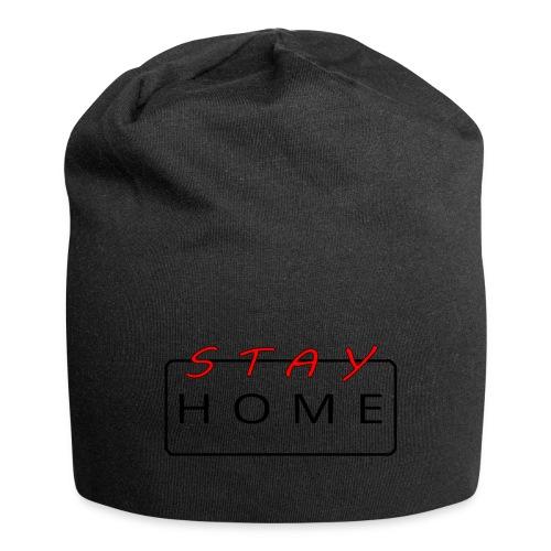 stay home rot/schwarz - Jersey-Beanie