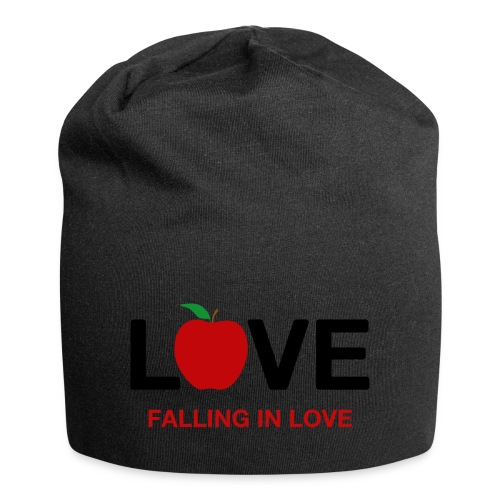 Falling in Love - Black - Jersey Beanie