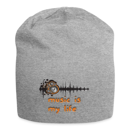 Music is my Life - Beanie in jersey