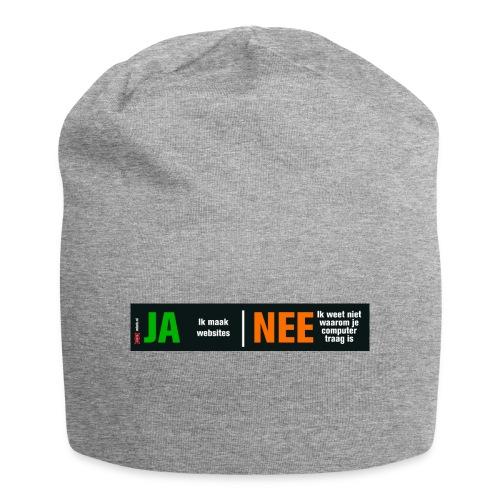 Ja ik maak websites - Jersey-Beanie
