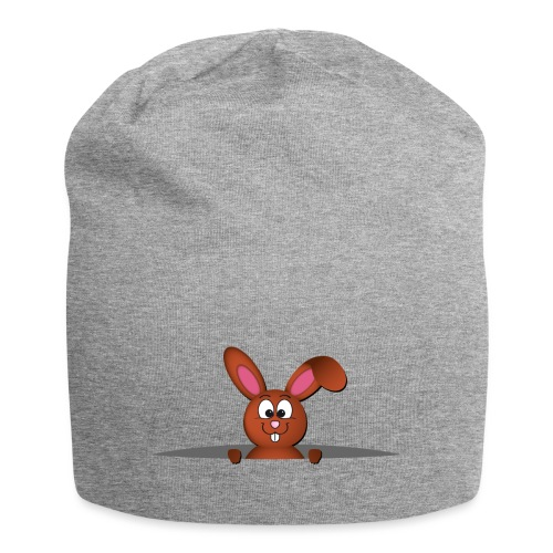 Cute bunny in the pocket - Beanie in jersey