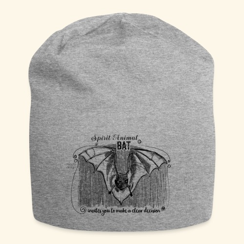 Spirit Animal Fledermaus schwarz - Jersey-Beanie