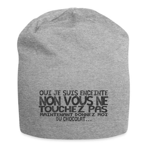 T-Shirt-Femme-Enceinte-Chocolat - Bonnet en jersey