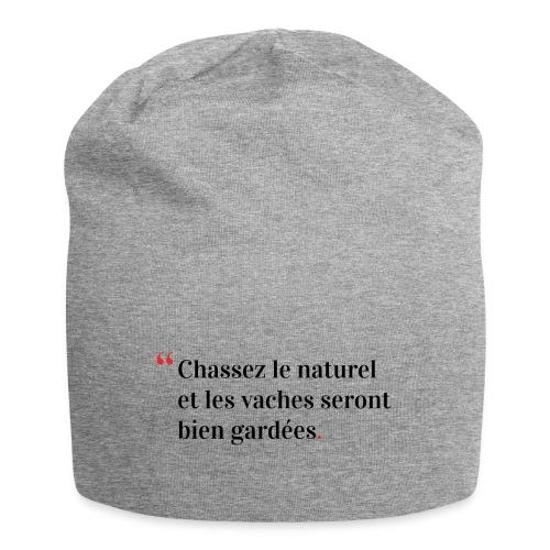 Chassez le naturel - Bonnet en jersey