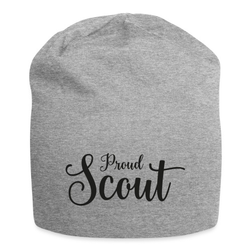 Proud Scout Lettering Black - Jersey-Beanie