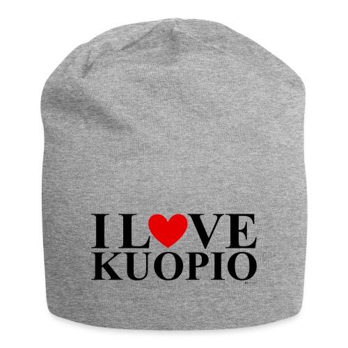I LOVE KUOPIO (koko teksti, musta) - Jersey-pipo